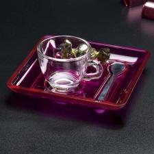 Kit caffè in vetro, plastica e acciaio